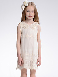Girl's Jacquard Dress,Polyester / Lace Summer