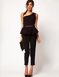 Mujeres SouthStoreA Cintura Inglaterra con los granos de hombro Pantalones Black9/10 siameses