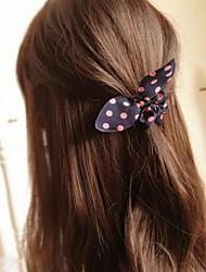 бантом кроличьи уши простые практические высокой упругой ленты для волос (цвет случайный)