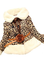 Girl's Jacket & Coat,Leopard Faux Fur Winter