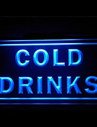 Cold Drinks Bar Advertising LED Light Sign