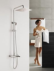 HPB™  Contemporary Waterfall Chrome Brass Shower Faucet with Air Injection Technology Shower Head
