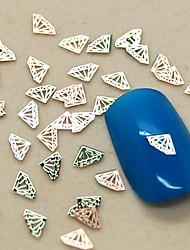 200pcs Diamant-scheibe Metallnagelkunstdekoration