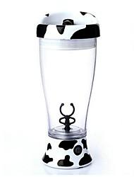 Fashion Self Stirring Cow Pattern Coffee Mug ABS,7.7''x3.0''