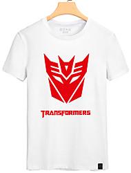 T-shirt Cosplay de Transformadores brancos & vermelhos Homens Polyester