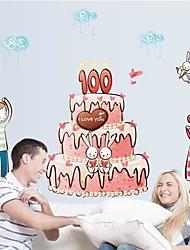 Doudouwo ® Romanze Liebhaber Kuchen Wandsticker