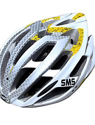 смс 25 жерла EPS + PC алюминия рамки сплава белый желтый интегрально-литой задействуя шлем (58-62см)