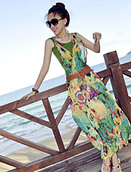 Women's Dresses , Chiffon Beach/Casual AllureLongDress