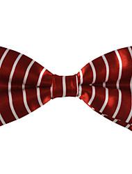 Man's Fashion Double Color Wide Streak Bow Tie(More Colors)
