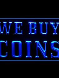 мы покупаем монеты рекламы Светодиодный свет знак