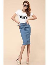 Donna Vintage Denim Gonne con cintura
