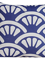 Country Fan Cotton/Linen Decorative Pillow Cover