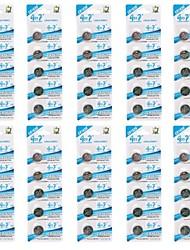 pilas cr1620 3v pegote de litio botón celular (50 piezas)