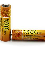 haomba 1.2v 700mAh AA recarregável 2pcs bateria de NiMH