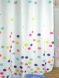Cute Cartoon Style Colorful Polka Dots Shower Curtain