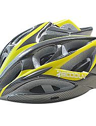 boodun 22 aberturas de montanha amarela e preta integralmente moldado capacete ciclismo (57-62 centímetros)