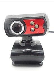 FX1 Peter Pan 4 LED 5.0 ​​Megapixel USB 2.0 Clip-on PC Webcam Camera con microfono
