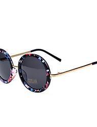 хо Мода Открытый Anti UV круглые очки вспышки контрастности цвет