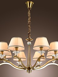 Vintage Chandelier, 8 Light, Classic Fabric Metal Painting