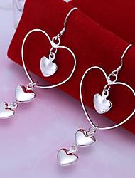 Flower Women's Korean-style High Quality Fashion Silver Drop  Earrings