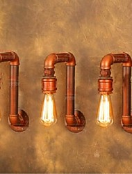 Vila Americana parede industrial luzes criativas retro lâmpadas tubulação de água 220--240v