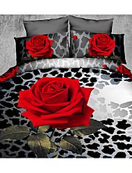 Ailianna 4 Piece 3D HD Digital Print Duvet Set P01