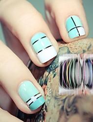 12 cores rola fita tarja goma linha nail art decoração adesivo maquiagem