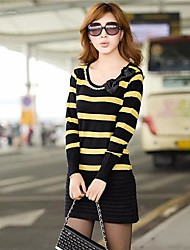 Frauen Langarm-Pullover Schlank