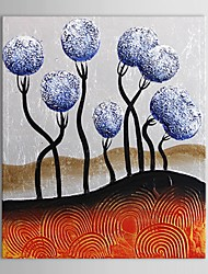 Hand Painted Oil Painting Landcape Blue Trees with Stretched Frame