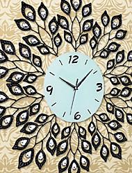 "28""Modern Style Leaves Pattern Iron Wall Clock"