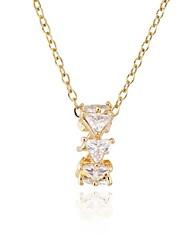 Уникальный дизайн циркон 18k золотое покрытие ожерелье женщин