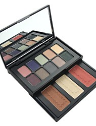 Professional Naras 13 Color Warm Matte & Shimmer Eyeshadow Foundation Powder & Blusher Palette Set with Mirrror 01#