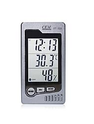 Temperatura di cem 0-50c umidità del 10% -90% di tempo della sveglia di visualizzazione della data metro 3in1 tester DT-322