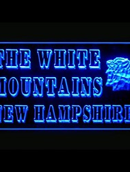 White Mountains Advertising LED Light Sign