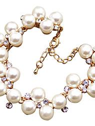 Meet You Pearl Bracelet Inlaid With Austrian Rhinestone