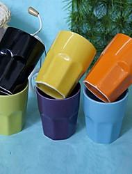 patrón creativo de cerámica fácilmente los colores del caramelo taza de azar, 2.5x2.5x3.5cm