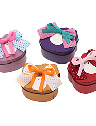 Cat Shaped Metal Favor Tins With Bow - Set of 12 (More Colors)