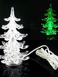 Multi-Color lenta Twinkle USB LED Romantic Produzido desktop Árvore de Natal de cristal