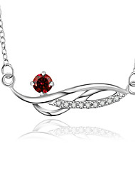 Fashion Number 8 Shape Copper Silver Plated Foreign Trade Zircon Necklace(Four Colors)(1Pc)