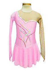 Girl's Pink Spandex Figure Skating Dress(Assorted Size)