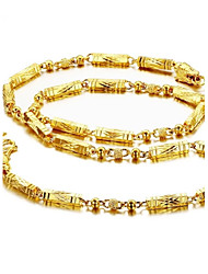 Ведущие Властного Прохладный 18 К золотым напылением Человек Ожерелье