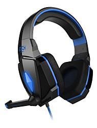 chaque 3.5mm G4000 casque sur l'oreille contrôle du volume de jeu avec microphone stéréo pour PC
