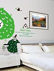 Accueil Arbre Enfants autocollant de pièce de crèche mur mur décalques d'art de bande dessinée d'oiseau Createforlife ®