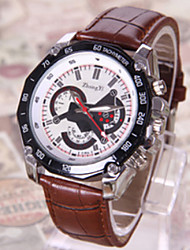 dos placas y cinco punteros reloj de cuero de imitación de shinuo hombres