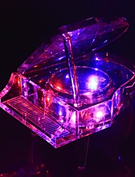 LIWUYOU™ Transparent MP3 Cristal Piano Music Box(2gb micro-sd card)