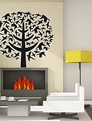Doudouwo®  Botanical Tree and Birds Wall Stickers