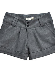 Pantalons pour Femmes  (Coton/Mélanges de Coton/Coton Organique/Tweed) Shorts - Epais - Micro-élastique