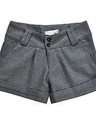 Dick - Mikro-elastisch - Kurze Hose - Damen-Hosen (Baumwolle/Baumwoll-Mischung/Organische Baumwolle/Tweed)