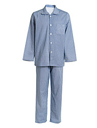 Medical Uniforms Single-Breasted Buttons Turned-down Twill Patient Pajamas
