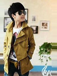 Boy's Polyester / Cotton Blend Trench Coat,Spring / Fall Solid